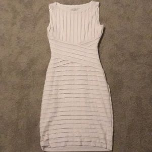 Calvin Klein white fitted dress